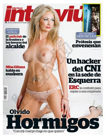 Olvido Hormigos desnuda portada interviu