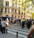 Escrache en Madrid - Foto: La Nube