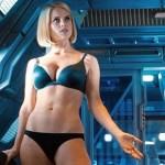 Alice Eve desnuda en Star Trek (Foto Paramount)