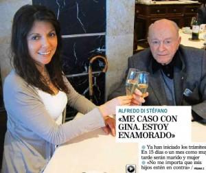 Di Stéfano, con su novia Gina González - Foto: La Otra Crónica