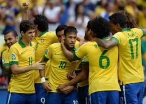 Brasil celebra ante Japon (Foto: Conmebol)