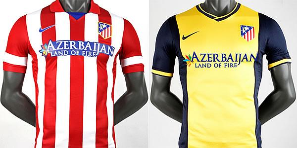 f4d48d666be13 Camiseta oficial Atlético de Madrid temporada 2013-2014 primera y segunda  equipación