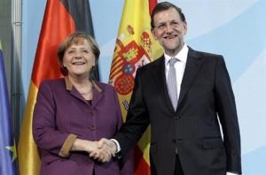 Merkel y Rajoy (Foto: web oficial Moncloa)