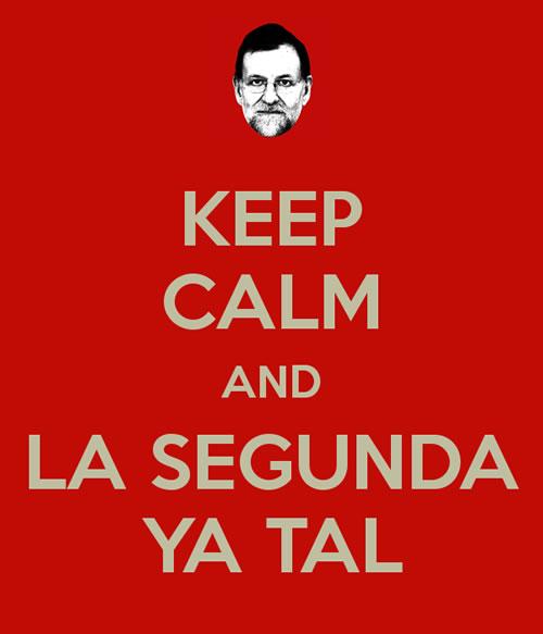 Rajoy la segunda ya tal