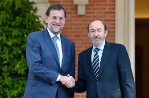 Rajoy y Rubalcaba (Foto pool La Moncloa)
