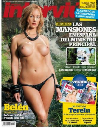Belén Roca de Mujeres y hombres en la portada de Interviú