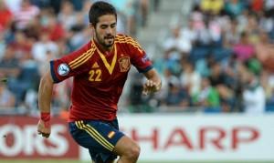 Isco con la Selección española (Foto Sefutbol)