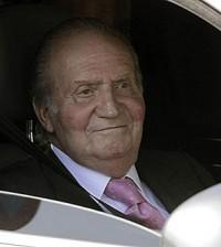El Rey don Juan Carlos, en coche (Foto Casa Real)