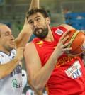 Marc Gasol de España, que cayó ante Italia en el Eurobasket 2013 (Foto FEB)