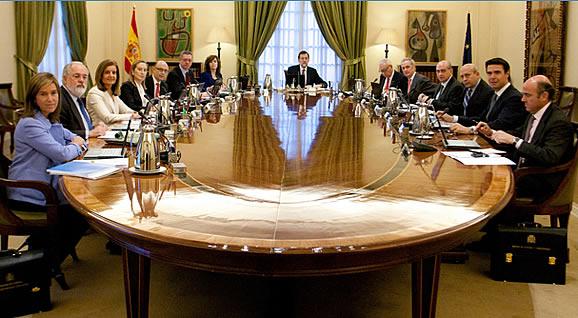 Referencia del consejo de ministros 27 de diciembre de for Ministros del gobierno