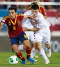 Xavi abrió el marcador ante Bielorrusia (Foto Sefutbol)