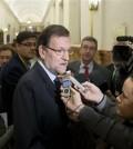 Rajoy, en los pasillos del Congreso (Foto Moncloa)