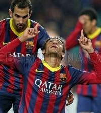 Neymar celebra un gol con el Barça (Foto Facebook FCB)
