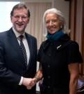 Rajoy, con la directora del FMI, Christine Lagarde (Foto Moncloa)