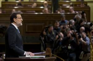 Rajoy, durante el debate sobre el estado de la nación (Foto Moncloa)