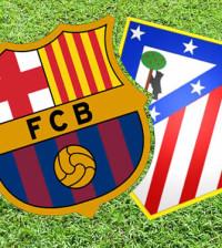Atletico de Madrid Barcelona escudos