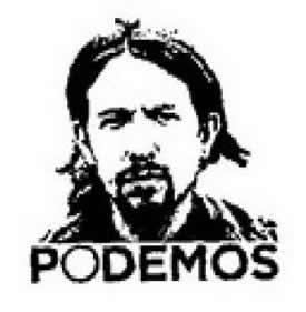 Pablo Iglesias en el logo de la papeleta de Podemos