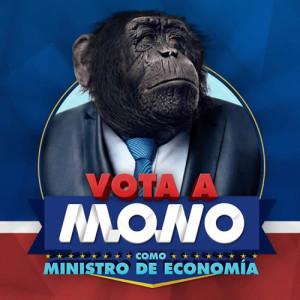 mono como candidato a Ministro de economía