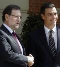 Rajoy y Pedro Sánchez en Moncloa (Foto Moncloa)