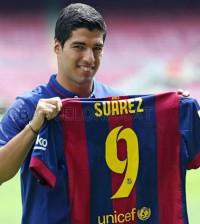 Luis Suárez con la camiseta del Barça (Foto FCB)