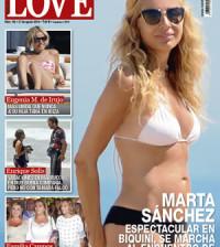 Marta Sánchez en la portada de la revista Love