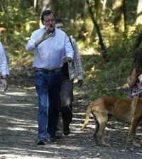 Merkel y Rajoy en el Camino de Santiago (Foto Moncloa)