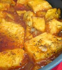 Tofu al horno con piña