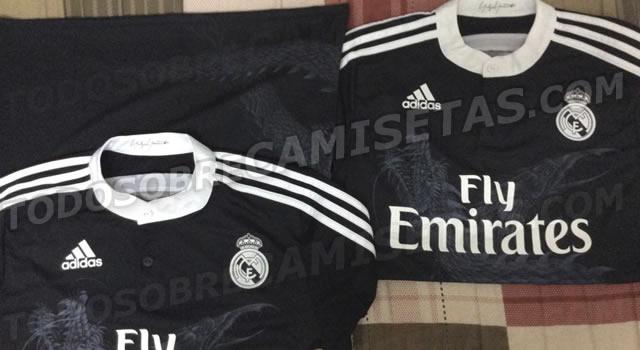 Desvelada la tercera equipación del Real Madrid, camiseta negra con dragón para la temporada ...