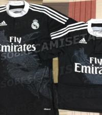 Tercera equipación del Real Madrid, la camiseta negra con dragón