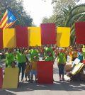 Actos de la Diada con la seynera (Foto Assemblea Nacional Catalana)