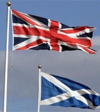 Banderas de Escocia y el Reino Unido