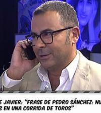 Jorge Javier Vázquez y Pedro Sánchez, hablando en Sálvame (Foto: Telecinco)