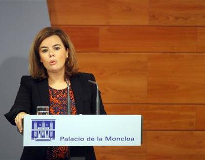 La vicepresidenta Soraya Sáenz de Santamaría (Foto Moncloa)