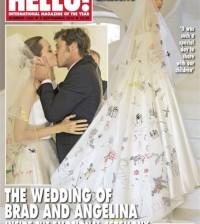 Portada revista boda Angelina Jolie y Brad Pitt