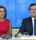 Rajoy y Cospedal, en un Comité Ejecutivo del PP (Foto Flickr PP)