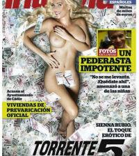 Sienna Rubio de Torrente 5 en la portada de Interviú