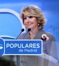 Esperanza Aguirre en rueda de prensa (Foto PP Madrid)
