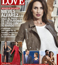 Nieves Álvarez en la portada de la revista Love