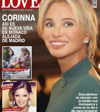 Corinna en la portada de la revista Love