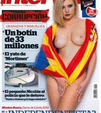 Montse Roura en la portada de Interviu