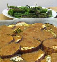 Hinojo y berenjena gratinados con bechamel de cacahuete