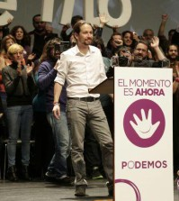 Pablo Iglesias en un mitin (Foto Podemos)