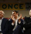 Angel Gabilondo, Pedro Sánchez y Antonio Carmona (Foto Flickr PSOE)