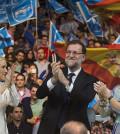 Rajoy, Aguirre e Cifuentes, en mitin del PP (Foto PP)