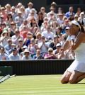 Garbiñe Muguruza en la final de Wimbledon (Foto RFET)