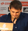 Iker Casillas en la despedida del Madrid