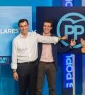 Nuevos dirigentes del PP con el nuevo logo del partido (Foto PP)