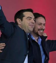 Tsipras y Pablo Iglesias