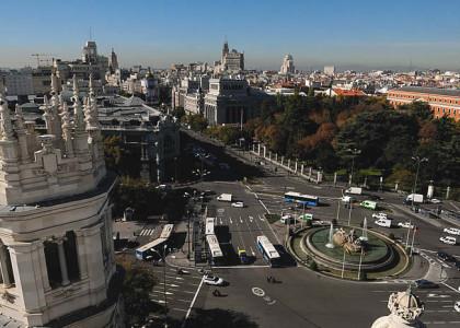 Centro de Madrid y el tráfico (Foto Ayuntamiento Madrid)