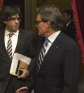 Carles Puigdemont con Artur Mas (Foto Generalitat)